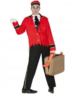 Zombie-Nachtportier Herrenkostüm Halloween-Kostüm rot-schwarz