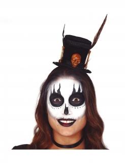Voodoo-Hut für Damen Mini-Zylinder Halloween schwarz-braun