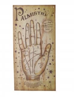 Poster Handleser Halloween-Dekoration braun 160x75 cm