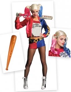 Harley Quinn™-Kostümset Suicide Squad™ 3-teilig bunt