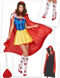Zombie-Prinzessin Kostüm-Set für Damen Halloween 6-teilig bunt