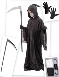 Sensenmann-Kostüm-Set für Kinder 6-teilig schwarz