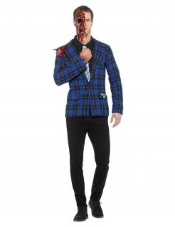 Breaking Bad™ Gustavo-Kostüm für Herren Halloween-Kostüm blau-rot
