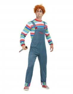 Chucky™-Kostüm für Herren Halloweenkostüm bunt