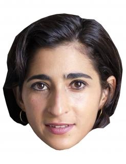 Alba Flores-Pappmaske Bankräuber-Maske beige-braun