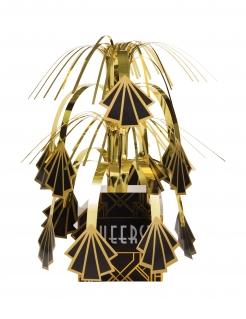 Charleston-Tischdeko 20er-Partydeko schwarz-gold 23 cm