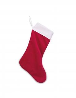 Nikolausstiefel Weihnachtsdeko rot-weiß 29cm x 48cm