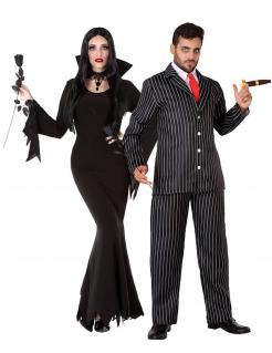 Gothic-Familie Paarkostüm Halloween-Kostüm schwarz