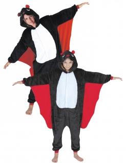 Fledermaus-Paarkostüm für Kinder und Erwachsene Halloween-Kostüm schwarz-rot-weiss