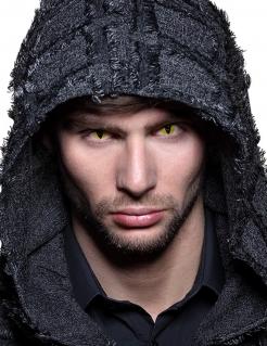 Listige Schlangenaugen-Kontaktlinsen für Erwachsene Halloween-Make-up gelb-schwarz