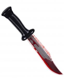 Blutiges Messer Halloween-Waffe schwarz-silber-rot 33cm