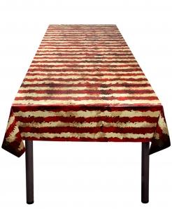 Horror-Zirkus-Tischdecke Halloween-Tischdeko rot-beige 120x180cm