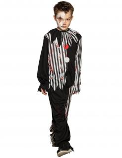 Trauriger Clown Kostüm für Jungen Halloween-Kostüm schwarz-weiss