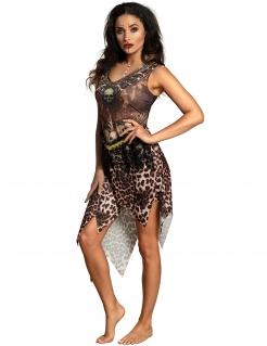 Voodoo-Stammeskostüm für Damen Halloweenkostüm braun