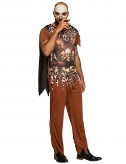 Fürchterliches Voodoo-Kostüm für Herren Halloween-Kostüm braun