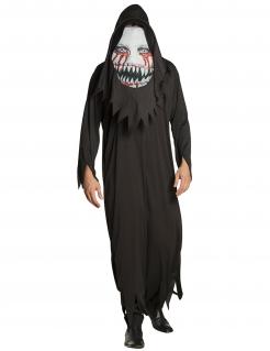 Monster-Kostüm für Herren mit Maske Halloweenkostüm schwarz-weiss