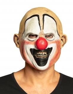 Killerclown-Maske Halloween-Maske weiss-rot-schwarz