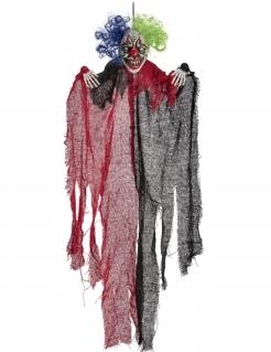 Horrorclown-Hängedeko Halloween-Partydeko schwarz-rot 65 cm