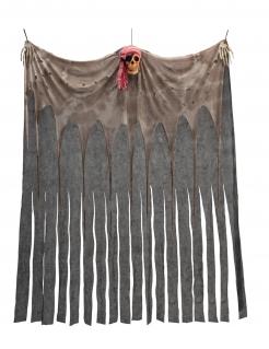 Geisterpirat-Vorhang Halloween-Partydeko braun 200x150 cm