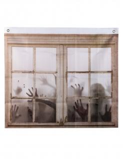 Bedruckter Zombie-Vorhang Halloween-Deko braun 75x90 cm