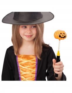 Leuchtender Kürbisstab Halloween-Accessoire orange-schwarz