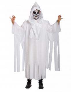 Gruseliges Gespenster-Kostüm für Kinder weiss