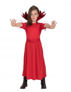 Teufelskostüm für Mädchen Kinderkostüm rot