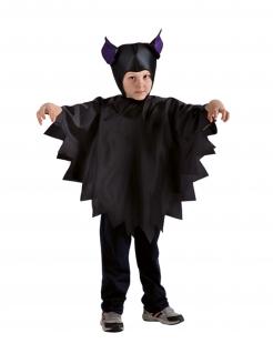 Fledermaus-Accessoire-Set für Kinder Halloween-Accessoires schwarz