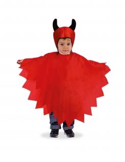 Teufel-Kostüm für Kinder Halloween-Kostüm rot-schwarz