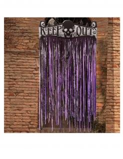 Fransenvorhang Halloween-Türdeko schwarz-lila 145 x 90 cm