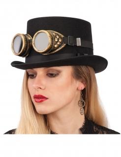 Steampunk-Brille Steampunk-Accessoire Kopfschmuck gold