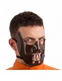 Kannibalen-Maske für Herren Halloween-Maske braun