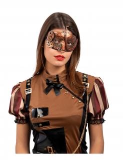 Steampunk-Augenmaske venezianische Maske Halloween-Maske kupferfarben