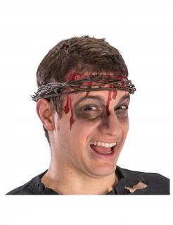 Dornenkrone für Erwachsene Krone aus Stacheldraht Halloween-Accessoirebraun