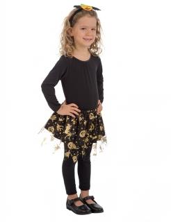 Halloween-Tutu für Kinder Halloween-Accessoire schwarz-gold