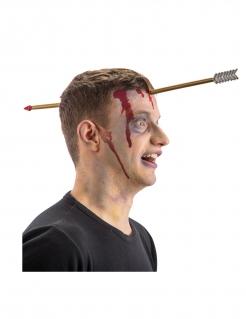 Pfeil im Kopf Haarreif einfaches Halloween-Kostüm-Accessoire braun-grau