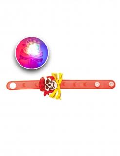 Leuchtendes Piraten-Armband rot-gelb-weiss
