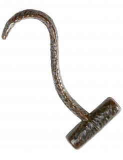 Haken-Hand Piraten-Zubehör braun-grau 25cm