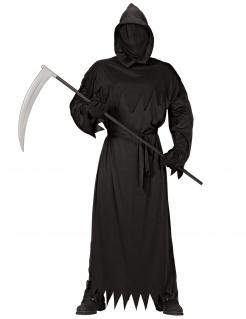 Kostüm des Todes für Herren Halloween-Kostüm schwarz