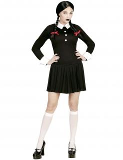 Gothic-Schülerin Damenkostüm Halloweenkostüm schwarz-weiss