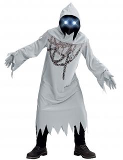 Angeketteter Geist Kostüm für Kinder mit Maske Halloweenkostüm grau