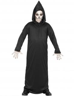 Gruseliges Sensenmann-Kostüm für Kinder Halloween-Kostüm schwarz
