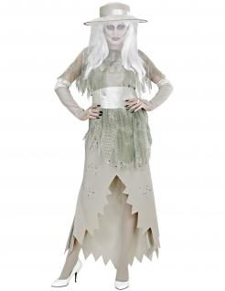 Geister-Damenkostüm Halloween-Kostüm weiss