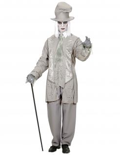 Geister-Gentleman Herrenkostüm Halloweenkostüm grau