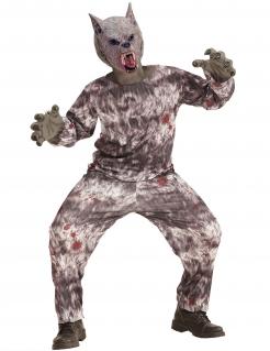 Werwolf-Kostüm für Jungen Halloweenkostüm grau