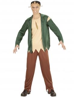Monster-Kostüm für Herren Halloweenkostüm braun-grün