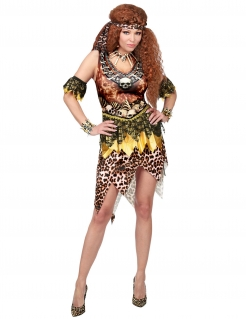 Voodoo-Kostüm Höhlenmenschen-Kostüm für Damen braun