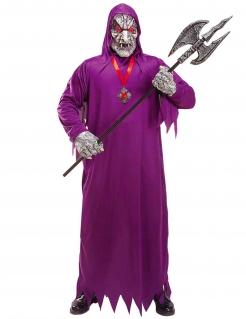 Todes-Dämon Herrenkostüm Halloweenkostüm violett-grau