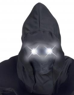 Unheimliche Geistermaske für Erwachsene Halloween-Vollmaske schwarz-weiß