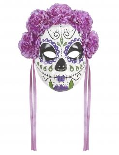 Calavera-Maske für Erwachsene Dia de los Muertos bunt